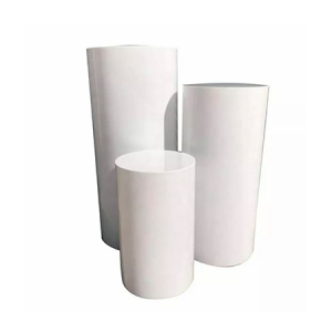 white Round Plinths hire gold coast