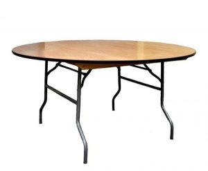 Banquet table hire - 6ft Plywood Round Trestle Tables