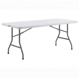 8ft White Plastic Trestle Table