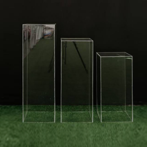 Clear Square Plinths Hire Gold Coast & Brisbane