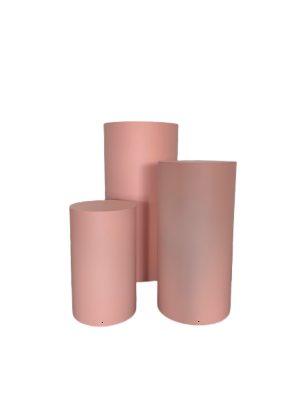 pink plinth - Pastel pink round plinth
