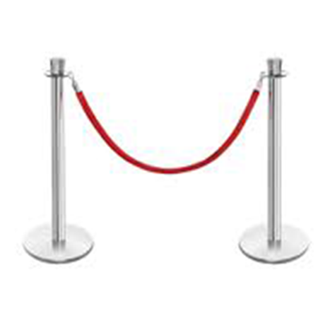 Chrome Silver Stanchions and rope barriers gold coast
