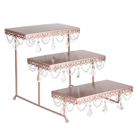 3-Tier Serving Platter & Cupcake Stand with Crystals