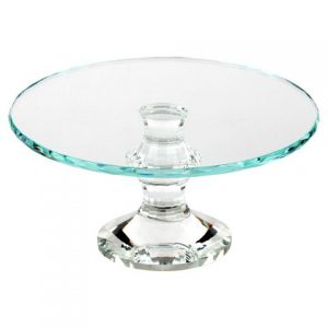 Crystal-Draped Square Cake Stand