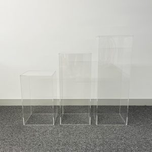 plinths clear square